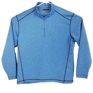 Pebble Beach  Mens Blue 1/4 Zip Golf pullover sz M
